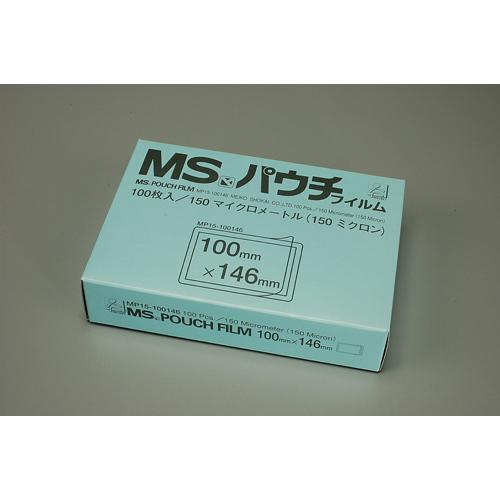MSパウチフィルム厚口/手札ブロマイド判/100枚入【明光商会】10箱