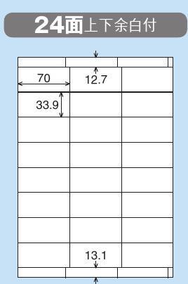 カラーLBP&コピー用紙ラベル(リラベル)はかどり24面上下余白500枚 【KOKUYOコクヨ】