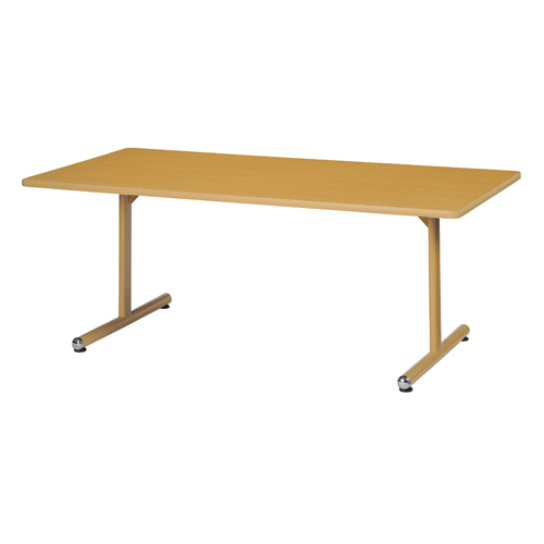 【メーカー直送の為代引き不可】福祉施設テーブルT脚テーブル(ナチュラル)KFJ-1890