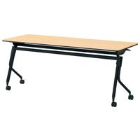 会議テーブル リネロ2ブラック脚【プラス】LD-620 WM/BK W1800×D600 お買い得10台パック 【メーカー直送の為代引き不可】