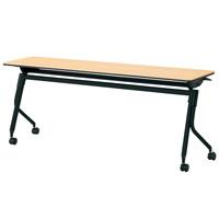 【メーカー直送の為代引き不可】会議テーブル リネロ2ブラック脚【プラス】LD-615 WW/BKW1800×D450お買い得10台パック