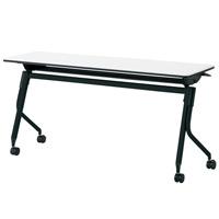 【メーカー直送の為代引き不可】会議テーブル リネロ2ブラック脚【プラス】LD-515 WS/BKW1500×D450