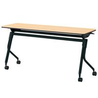 【メーカー直送の為代引き不可】会議テーブル リネロ2ブラック脚【プラス】LD-515 WM/BKW1500×D450