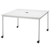 【メーカー直送の為代引き不可】テーブル【FRENZ】RM-1200C ホワイトW1200×D1200