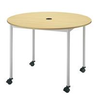 【メーカー直送の為代引き不可】テーブル【FRENZ】RM-1000C Nナチュラル直径1000mm