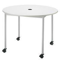 【メーカー直送の為代引き不可】テーブル【FRENZ】RM-1000C ホワイト直径1000mm