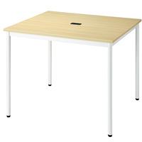 【メーカー直送の為代引き不可】テーブル【FRENZ】RM-990 NナチュラルW900×D900mm固定脚