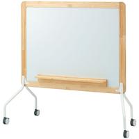木製両面ホワイトボード【コマイ】 RBL-34SSWW板面有効寸法:W1175×H875mm【メーカー直送/の為代引き不可商品】