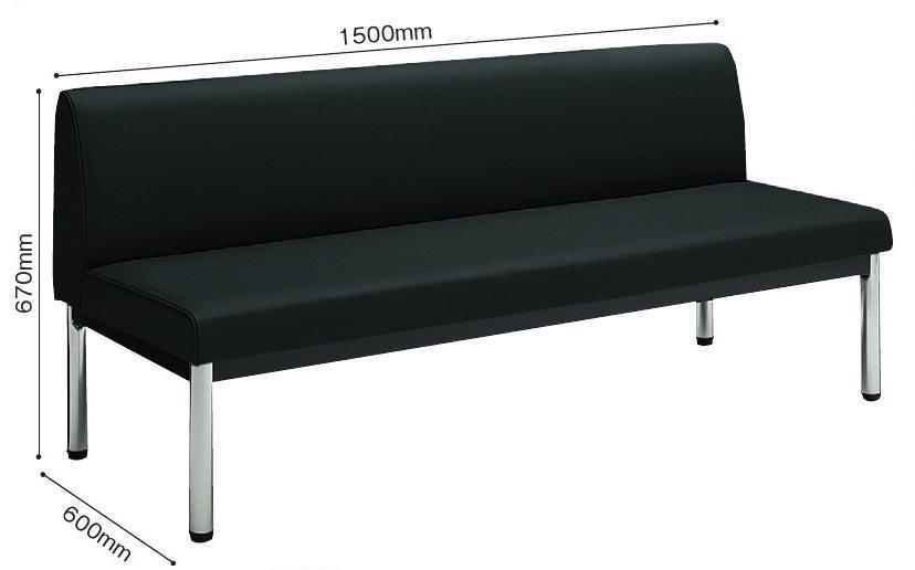 ロビーチェア150シリーズ 3人用肘無W1500【KOKUYO】4色からお選びください。【メーカー直送商品】【代金引換不可】
