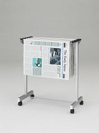 新聞架 スチール製 5本タイプ  [クラウン]