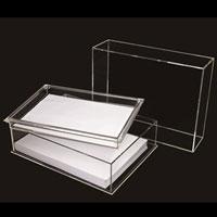 クルーズのアクリル製品決裁箱A6判クリア【クルーズ】CRC8503外寸:幅178×奥136×高103mm