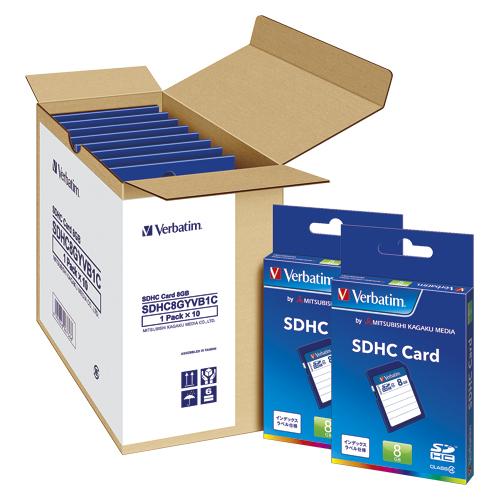 Verbatim SDHCメモリーカード 10枚入8GB [三菱化学メディア]SDHC8GYVB1C