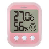 デジタル温湿度計 オプシスプラス ピンク【ドリテック 】O-251PK