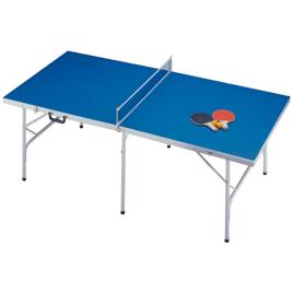 即出荷 贈り物 コンパクトに折りたたんで収納できる卓球台セットです ファミリー卓球台セット142-685