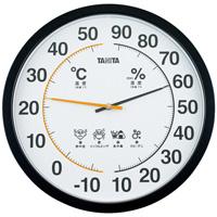 温湿度計【タニタ】 TT-554 ブラック直径35cm