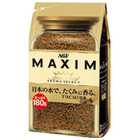 マキシムインスタントコーヒー袋180g×12袋【AGF】※軽減税率対象商品