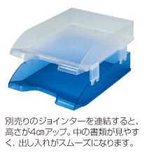 場所を取らないスタッキングタイプ デスクトレーA3ヨコ セキセイ 男女兼用 送料込 SSS-1485-クリア ブルー2色からお選びください