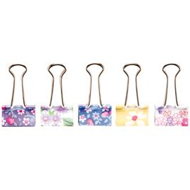 かわいい花柄のダブルクリップ! 【ソニック】花柄Wクリップ。中(10個入り)、小(15個入り)ゆうパケット対応可