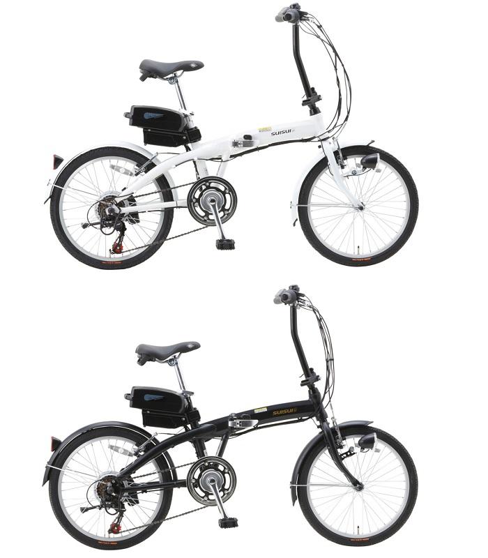 20インチ 電動アシスト折畳自転車 6段変速 【SUISUI ミムゴ】【メーカー直送商品】【代金引換不可】