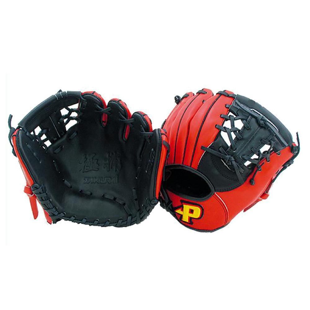 (同梱不可)Promark プロマーク 野球グラブ グローブ 硬式・軟式兼用 トレーニンググラブ ブラック×レッドオレンジ TG-1012