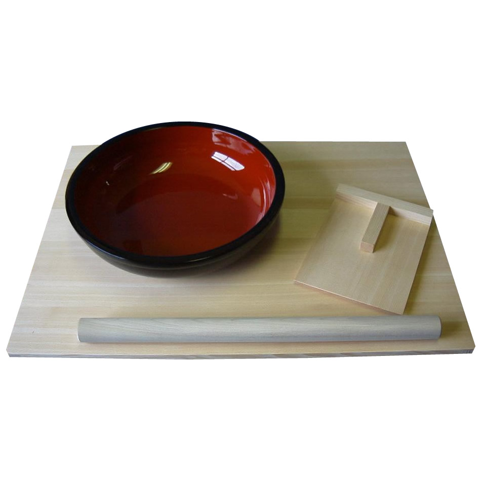 (同梱不可)市原木工所 日本製 蕎麦 手打ち麺4点セット 092409