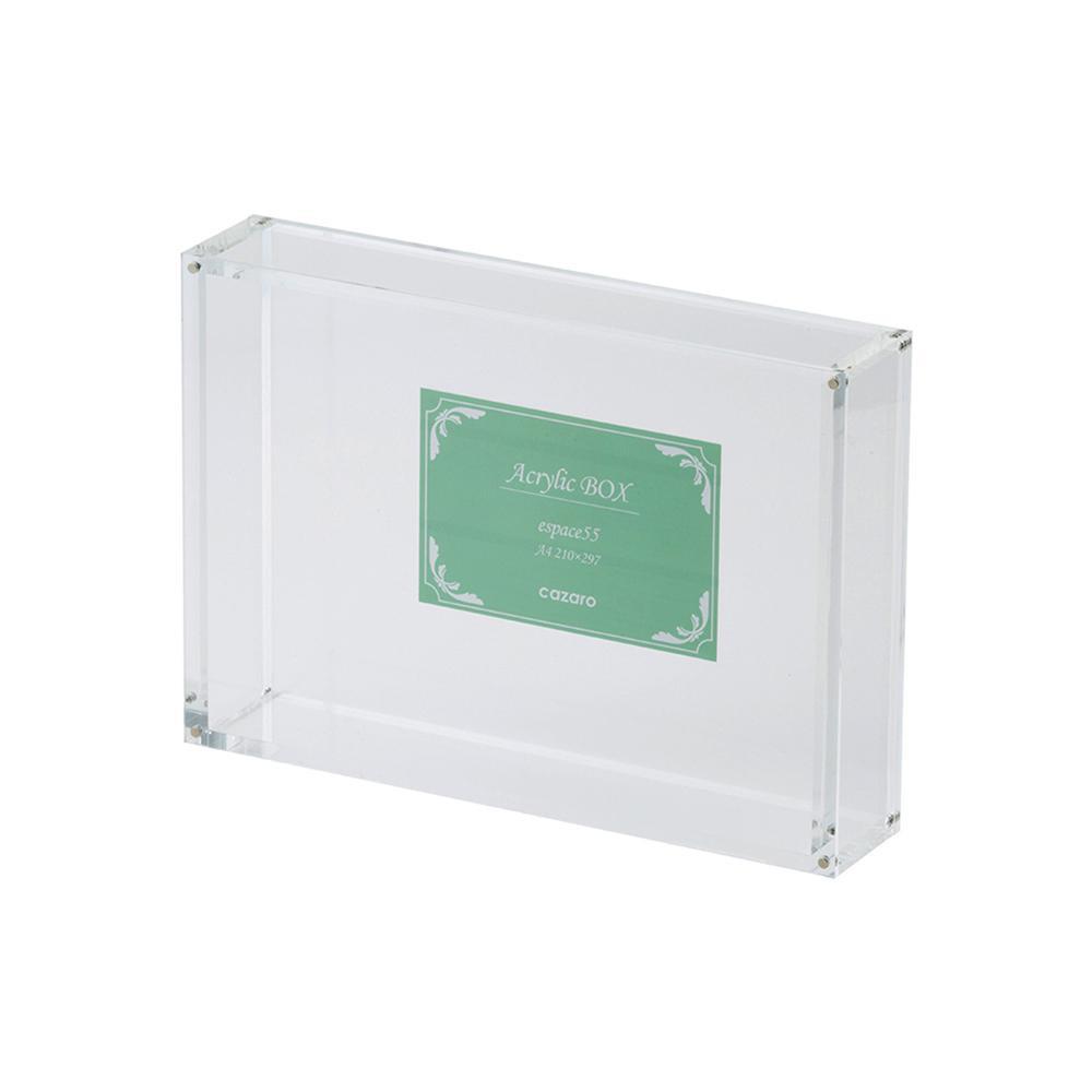 (同梱不可)Cazaro アクリルBOX エスパス 55 A4 クリア 36B005B0200