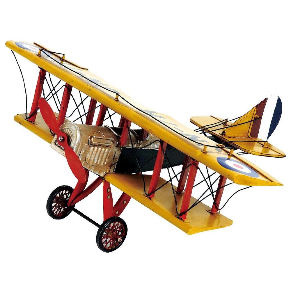 (同梱不可)ブリキのおもちゃ(biplane) 27139