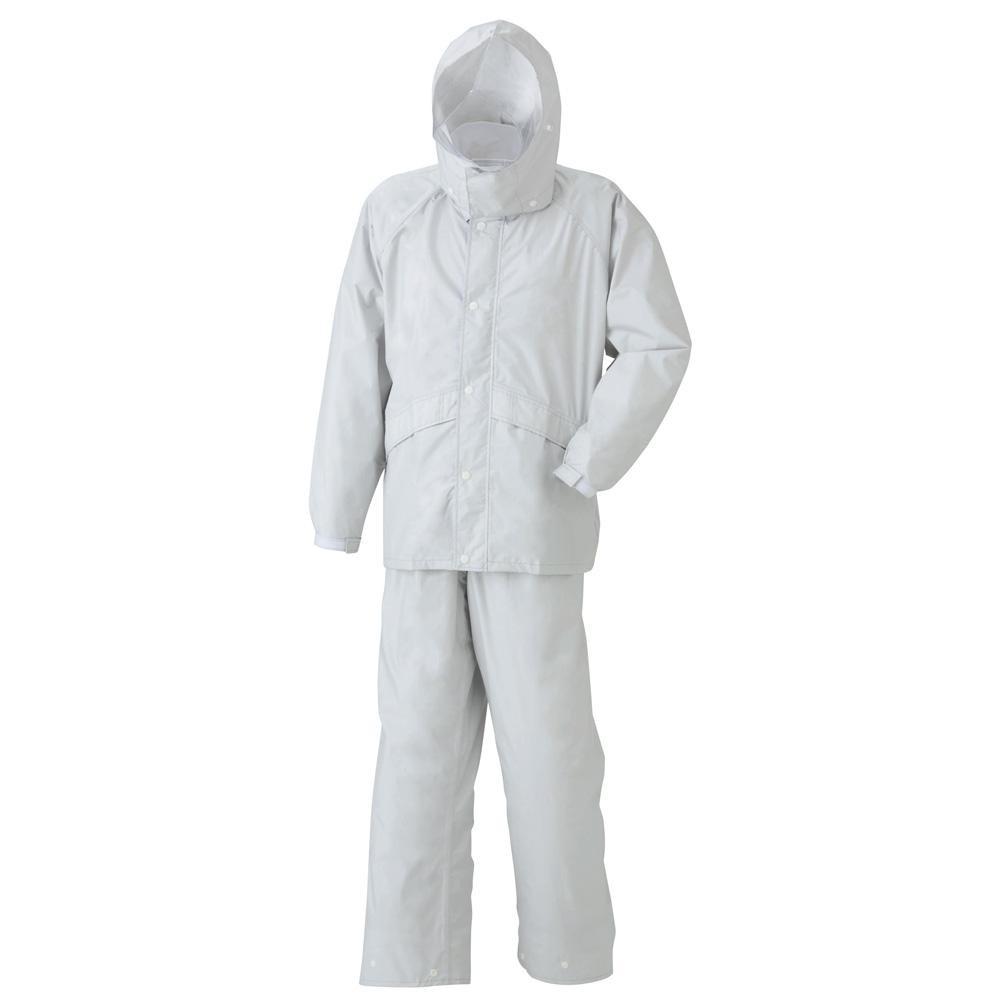 (同梱不可)スミクラ レインウェア 透湿ストリートスーツ A-625 シルバー BEL