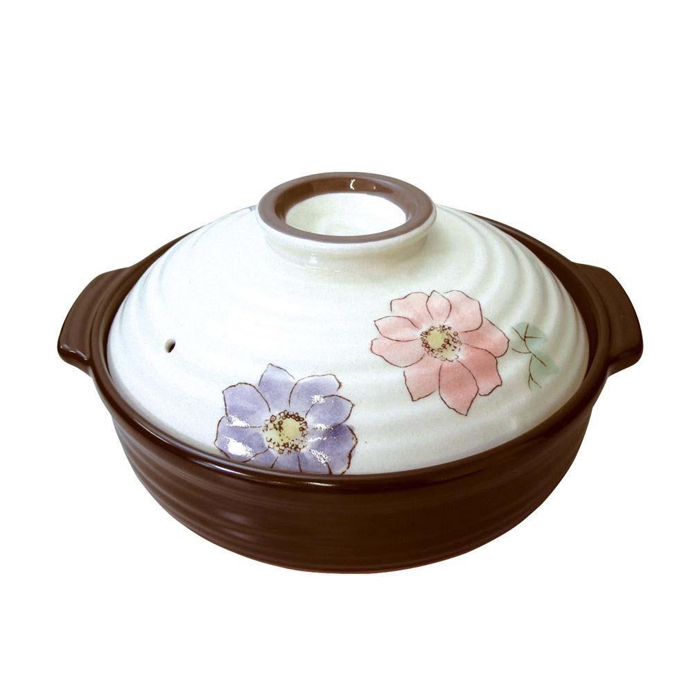(同梱不可)日本製 セラミック加工IH土鍋(IH・直火両用) 葵 9号 6038-1855