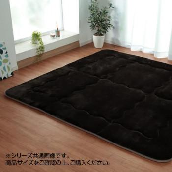 (同梱不可)ふっくら敷きカーペット 『ルイーダ』 ブラウン 約190×240cm 5966019