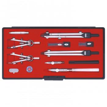 製図用品です。  (同梱不可)KD型製図器 SE 14品組A 1-730-7020