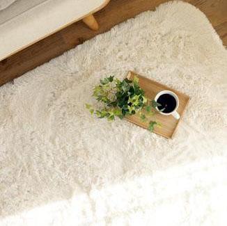(同梱不可)手洗いOK!!スベリ止め付き マイクロファイバーロングシャギーラグ 190×190cm