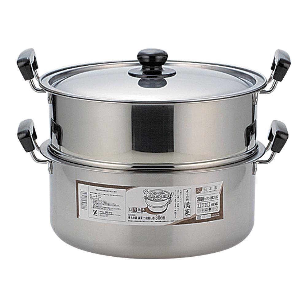 (同梱不可)蒸しもの鍋 満菜 二段蒸し器 30cm SH9868