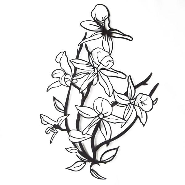 (代引き不可)(同梱不可)かわ畑 壁飾り ウォールアート 花 1507TSF002