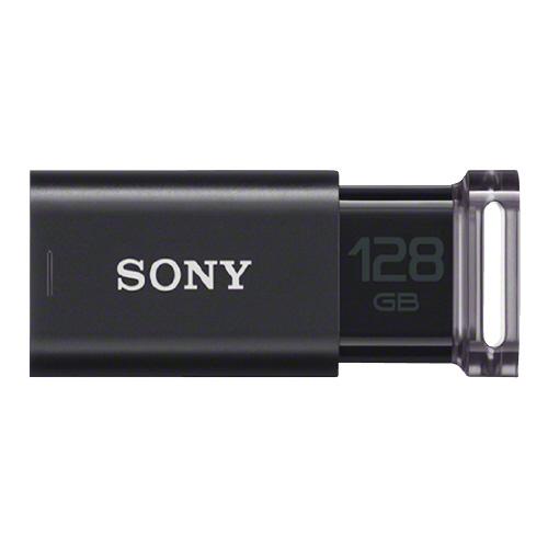 【ゆうパケット対応可】USBメモリー Uシリーズ 128GB、ブラックUSM128GU-B【SONY】