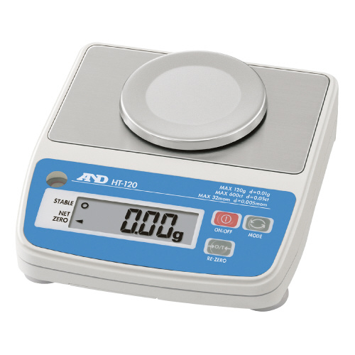 高精度 コンパクトスケール 秤量:120g 最小表示:0.01gHT-120【エー・アンド・デイ】