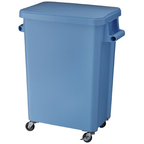 厨房用キャスターペール72L ブルー 排水栓付W570×D350×H695mmGGYK006【リス】【メーカー直送商品】【代金引換不可】