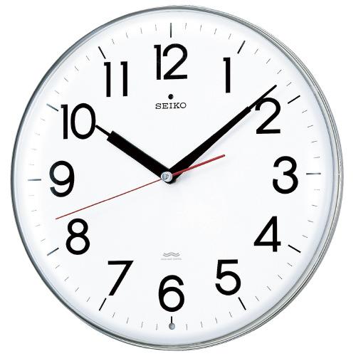 電波掛時計 白 直径294×47mmKX301H【セイコークロック】