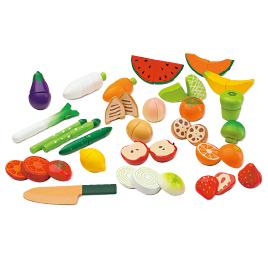 磁石でくっつくおままごと野菜と果物セット GF18-0009【ウッディプッディ】