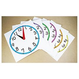 カラー時計模型セット(6枚組) 3147【オータケ】