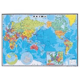 パウチ式世界地図 南アメリカ州 ミナミアメリカ【全教図】