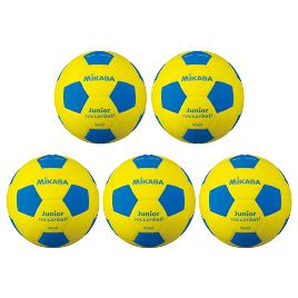 スマイルサッカー軽量4号 青(5個) SF4J-YBL*5【ミカサ】