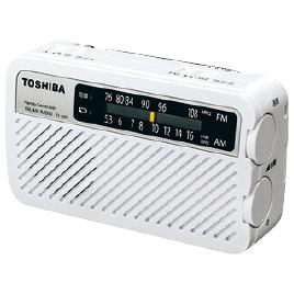 手回し充電ラジオ TY-JKR5 TY-JKR5 W【東芝電池】