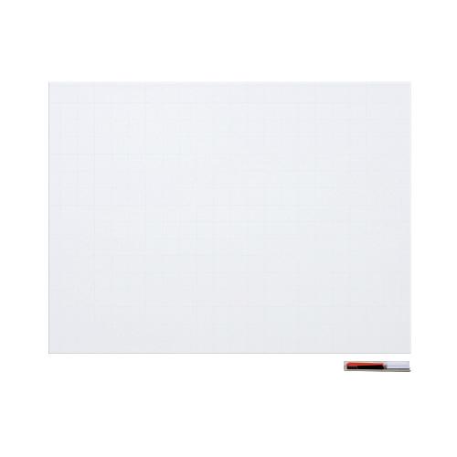 暗線入りマグネットホワイトボードシート 特大 W1200×H900mm MSHP-90120-M【マグエックス】