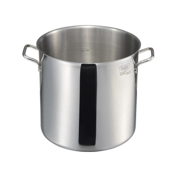 (代引き不可)(同梱不可)MTI IH F-PRO 寸胴鍋蓋無(目盛付) 30cm 004784-030