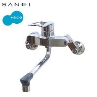 (同梱不可)三栄水栓 SANEI キッチン用(壁付) シングル混合栓 寒冷地仕様 K17110EDK-13
