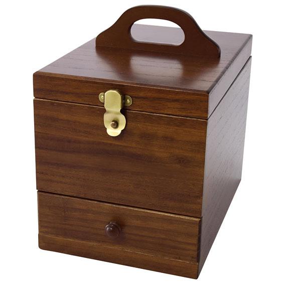 木製のメイクボックス 手作り 激安価格と即納で通信販売 ドレッサー 無料サンプルOK シンプル 同梱不可 茶谷産業 Wooden 日本製 Case 017-513 木製コスメティックボックス