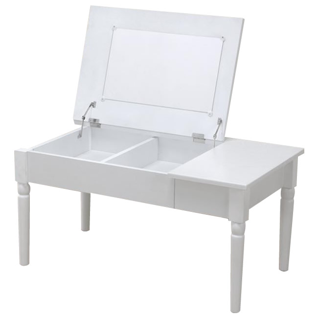 (代引き不可)(同梱不可)サン・ハーベスト コスメテーブル LT-900 WH・ホワイト