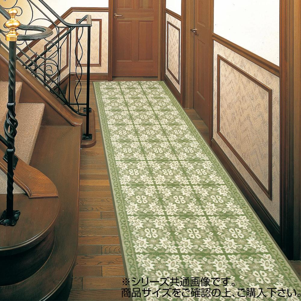 (同梱不可)三重織 い草廊下敷 約80×450cm グリーン TSN340535