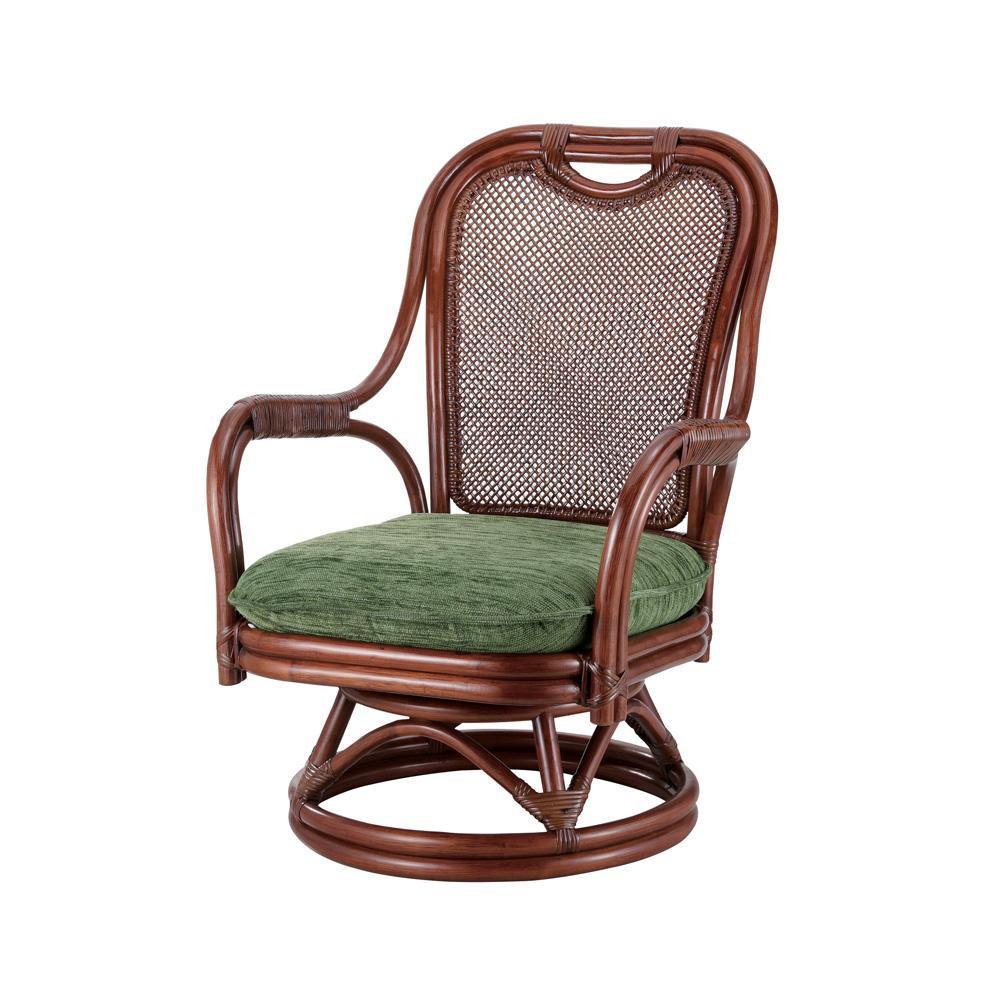 (同梱不可)今枝ラタン 籐 シーベルチェア 回転椅子 グローバル A-255SD